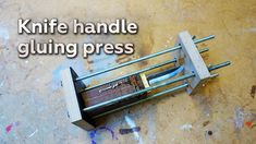 Making a Knife Handle Gluing Press More