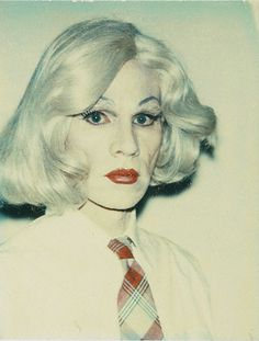 "Andy Warhol's drag-queen alter-ego, ""Drella."" Halloween costume idea?"