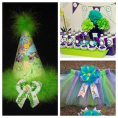 Inspiration for a tinkerbell themed party I'm planning