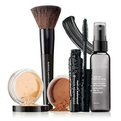 The perfect finish for less.A $50.99 value, this collection includes:•Smooth Minerals Powder Foundation-Transparent Glow -.12 oz. net wt. $12.00 value•Smooth Minerals Powder Foundation-Bronze -.12 oz. net wt. $12.00 value•Avon Makeup Setting Spray- .2 fl. oz. $10.00 value• Avon Bronzer Brush -$8.99 value•Wash-Off Waterproof Mascara-Black - .21 oz. net wt. $8.00 value