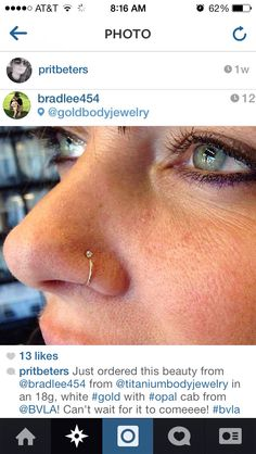 BVLA nostril nose ring