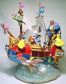 Group Description: Mickey Mouse flies a magic ship filled with Disney characters. Walt Disney, Disney Theme, Disney Love, Disney Magic, Disney Stuff, Water Globes, Snow Globes, Disney Music Box, Disney Snowglobes