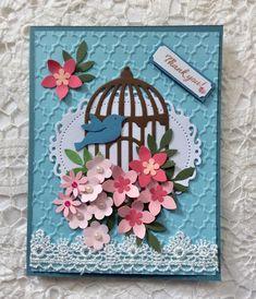Birdcage Thank you card
