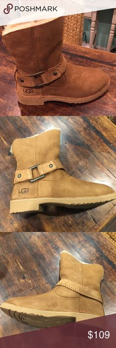UGG Boots Cute UGGs Cedric style with buckle accent. 🎉🎉🎉Priced to sell. Try bundling for discount. ❤️ UGG Shoes Ankle Boots & Booties