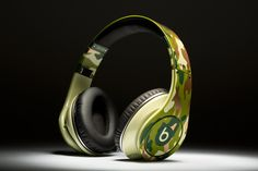 Cam Newton's custom Camo Beats by Dre Studios.