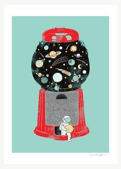 My childhood universe - Art print (ilovedoodle.com - The visual art of Lim Heng Swee)