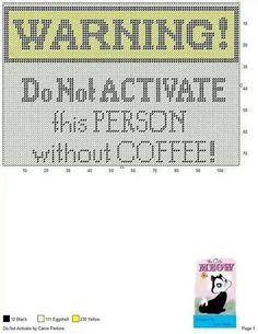 would make a funny framed gift Cross Stitch Quotes, Just Cross Stitch, Plastic Canvas Crafts, Plastic Canvas Patterns, Pc Photo, Book Crafts, Craft Books, Graph Paper Art, Cross Stitch Kitchen