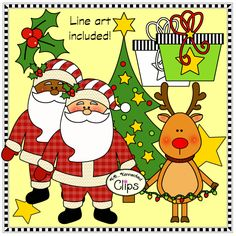 It's Christmas Clip Art Collection (Mix and Match) $ Also includes frames, headers, and papers. http://www.teacherspayteachers.com/Product/Its-Christmas-Clip-Art-Collection-Mix-and-Match-1551467