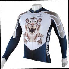 "53.00$  Watch here - http://aliqbb.worldwells.pw/go.php?t=32722461990 - ""PALADIN """" Cartoon Tiger """" Mens Long Sleeve Cycling Jersey Bike Shirt Cycling Clothing"""
