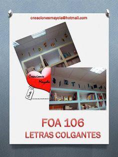 Creaciones Mayola: LETRAS COLGANTES, LETRAS BIBLIOTECA.