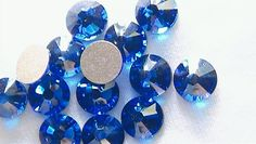 Capri Blue 30ss Swarovski Elements Rhinestone Enhanced 2058 Flat back 10 pieces - $2.20 - Handmade Commercial Supplies, Crafts and Unique Gifts by Rhinestones Etc