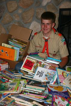 Eagle scout project book drive for the Marshall islands, via Flickr.