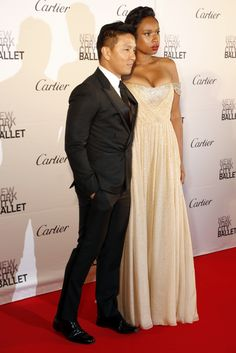 Prabal Gurung and Jennifer Hudson attend New York City Ballet's fall gala at Lincoln Center. [Photo: George Chinsee]