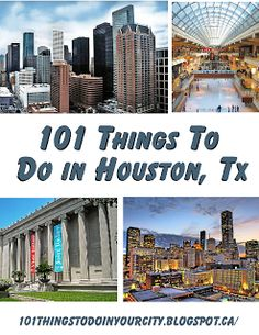 101 Things to do in Houston: I love how this list is new enough to tell you to go to Top Golf and old enough that it thinks you can still spend a day at Astroworld. Definitely not written by Houstonians