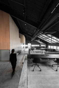 Flamingo Shanghai offices by NeriHu feature raw concrete and angular meeting rooms