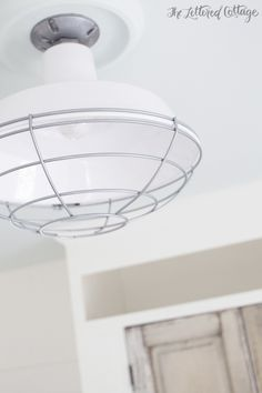 Barnlight Electric Industrial White Bedroom Ceiling Light