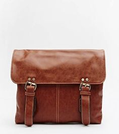 www.edsfashions.co.uk - Buckle Strap Satchel – LIGHT BROWN – Lovely Gift. Great for WORK!!!
