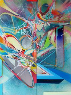 Stephen Holding - Union, Enamel on Perspex, 18″ x 24″, 2011