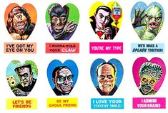 spooky valentine cards