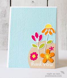 Thank You card by Jean Manis - Paper Smooches - Dainty Flowers Dies, Reflections Flowers Dies, Flowers Dies, Lovely Thoughts