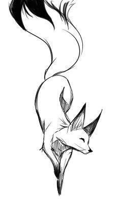 Billedresultat for fox tattoo animal sketches easy, simple animal drawings, art drawings sketches simple
