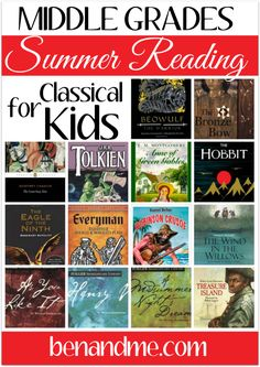Middle School Summer Reading for Classical Kids #summerreading #homeschool