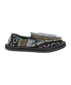 Take a look at this Black Donny Slip-On Shoe - Kids by Sanuk on #zulily today!