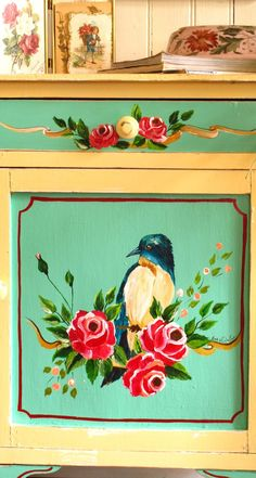 LAS VIDALAS Funky Painted Furniture, My Furniture, Rustic Furniture, Mexican Home Decor, Turkish Art, Mural Wall Art, Painted Letters, Artisanal, Painting On Wood