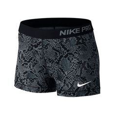 Nike Women's 3 Inch Pro Core Compression Shorts, Grey ($35) ❤ liked on Polyvore featuring activewear, activewear shorts, nike, shorts, grey, nike sportswear and nike activewear
