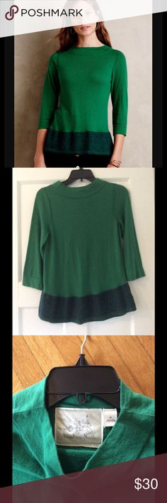 Anthropologie angel of the north sweater Anthropologie Angel of the north green sweater in green. XS... smoke free home! Anthropologie Sweaters Crew & Scoop Necks