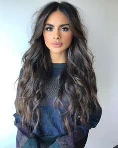56 Very Pretty Hairstyles From Sophia Miacova Make You Charming Looks Sophia Miacova, Boho Hairstyles, Pretty Hairstyles, Latest Hairstyles, Long Dark Hair, Hair Dos, Balayage Hair, Wavy Hair, Hair Trends