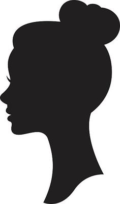 Vector silhouette of a woman with a wedding hairstyle – artystyczna grafika wektorowa