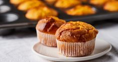 Édesburgonyás muffin recept   Street Kitchen Green Kitchen, Guacamole, Sweet Potato, Bacon, Roast, Muffin, Dessert Recipes, Breakfast, Food
