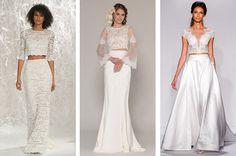 Crop Top Wedding Dresses from The 8 Best Wedding Trends of 2015 - BridalPulse