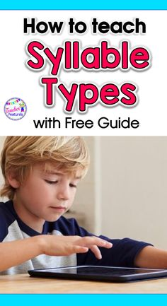 Learn how to teach syllable types and why teaching syllable types matters. You will feel like a more successful teacher and your students will struggle less. #Syllables #readingstrategies #Teachingsyllabletypes #syllabledivision