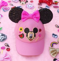 Mickey hat with patches!
