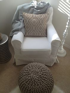 Ikea Chair + Glider Mechanism = Inexpensive Glider Chair! We are doing this for sure!!!!