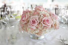 centros de mesa para boda en colores típicos suaves