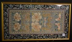 """Fine Chinese Hand Embroidered Silk Panel Screen. Size : 14.5"""" x 26.5"""""""
