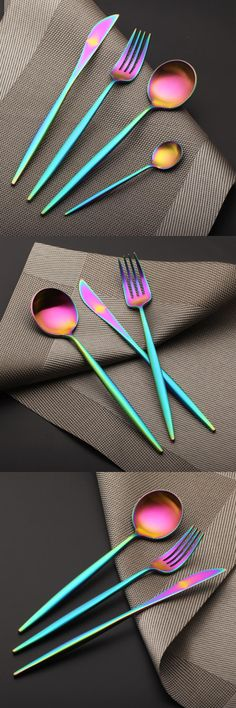 Rainbow Flatware Setting for Four  $77.75. You save 44% off the regular price
