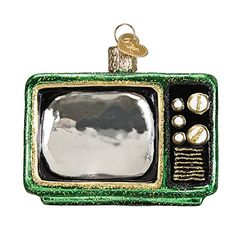 Old World Christmas Retro Tube TV Glass Blown Ornament