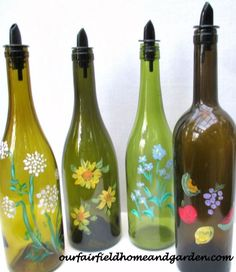 Handmade Gift Idea #26-Upcycled Bottles for Kitchen and Laundry via Our Fairfield Home at AnOregonCottage.com