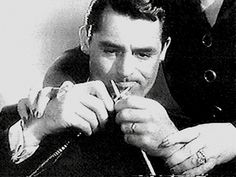 Cary Grant learns to knit. L.A. Is My Beat: Vintage Photo Friday