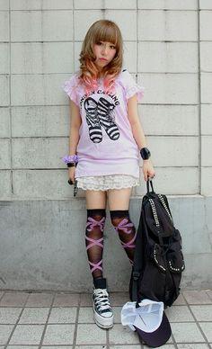 cute, fashion, japanese, kawaii