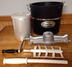 Aroma Ice Cream Maker 4 Quart Manual Hand Crank Home Made Made From Scratch  | eBay #homemade #icecream #Summersnack #sweettooth #aroma #shop #household