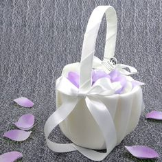 EinsSein 1x Streuk/örbchen Hochzeit Amore flieder Blumenkinder Hochzeit Blumenkorb Blumenk/örbe Blumenm/ädchen Blumendeko basket girl flower
