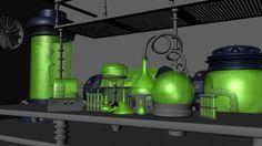 Mad Scientist Lab - WIP - Test Render #1 by peanutbk.deviantart.com on @deviantART