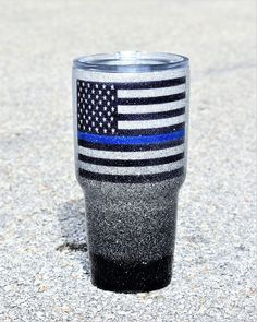 Custom Thin Blue Line Yeti Tumbler Glitter Yeti Police Wife gifts for her law enforcement Police Gifts Cops Cop Personalized Yeti red line Police Girlfriend, Cop Wife, Police Wife Life, Diy Tumblers, Custom Tumblers, Glitter Tumblers, Insulated Tumblers, Police Gifts, Police Officer Crafts