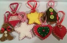 """Decorazioni natalizie in feltro / felt Christmas decoration """"Idee Preziose di Ale e Cri"""""""