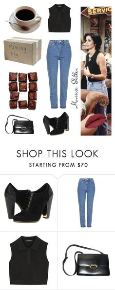 """Monica Geller"" by barbiedollgrunge ❤ liked on Polyvore featuring Episode, Vogue, Topshop, Neil Barrett, Hermès, LORAC, friends, 90s, 51 and Monica"